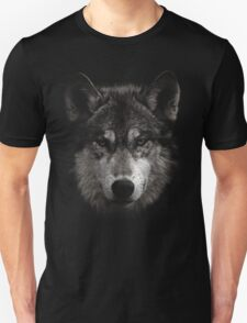 Halftone Wolf Animal Unisex T-Shirt