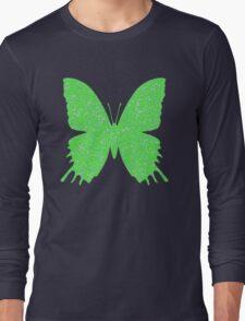 #DeepDream Lime Green color Butterfly Long Sleeve T-Shirt