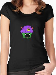 Cupcake monster devil Women's Fitted Scoop T-Shirt