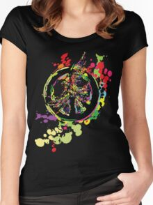 Peace & Peace Women's Fitted Scoop T-Shirt