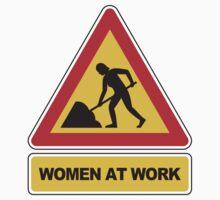Women at work sign Kids Tee