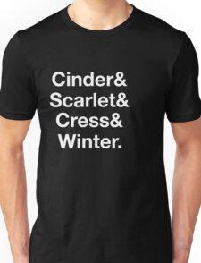 The Lunar Chronicles Girls List (White Font) Unisex T-Shirt
