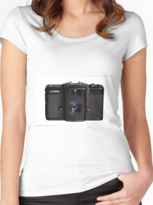 Lomo Camera Women's Fitted Scoop T-Shirt