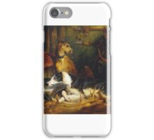 Sir Edwin Henry Landseer A Scene at Abbotsford exhibited iPhone Case/Skin