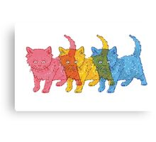 RGB Kittens Canvas Print