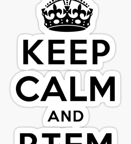 Keep Calm Geeks: RTFM Sticker
