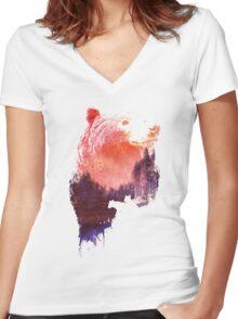 Love forever Women's Fitted V-Neck T-Shirt