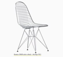 Eames DKR wire chair - design 951 One Piece - Short Sleeve