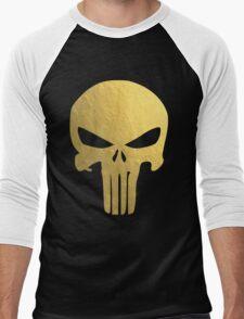The Punisher Skull Gold Texture Men's Baseball ¾ T-Shirt