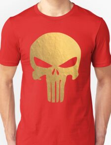 The Punisher Skull Gold Texture T-Shirt