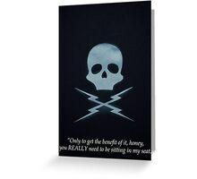Minimalist Tarantino- Death Proof Quote Greeting Card