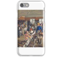 Sir John Lavery ,  The Jockeys' Dressing Room at Ascot iPhone Case/Skin