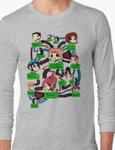 Scott pilgrim relationships Long Sleeve T-Shirt