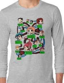 Scott pilgrim relationships Long Sleeve T-Shirt