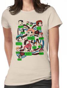 Scott pilgrim relationships Womens Fitted T-Shirt