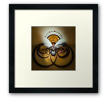 Kaleidoscope view of gothic church interior, little planet effect of panoramic shot. Ribeauville, France. Framed Print