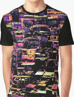 Homes On A Hill Pop Art Graphic T-Shirt