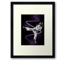 Karate girl Framed Print