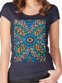 Psychedelic Street Art, Tel Aviv Women's Fitted Scoop T-Shirt