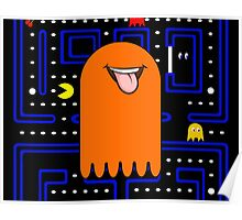 Retro Pac Man Monster Poster