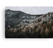 Not all those who wander 14 Canvas Print