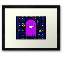 Retro Pac Man Monster Gamin Smile Framed Print