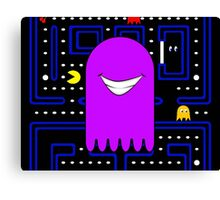 Retro Pac Man Monster Gamin Smile Canvas Print