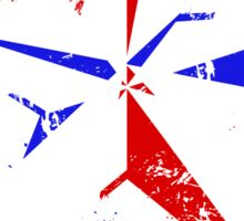 American Flag Nautical Star - Grunge Sticker