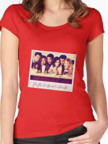Friends --- Polaroid Group Photo Women's Fitted Scoop T-Shirt