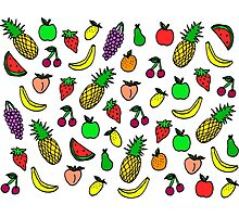 colourful fruit lovin' Photographic Print