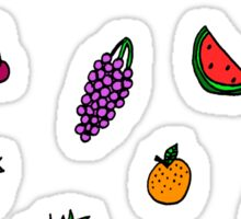 colourful fruit lovin' Sticker