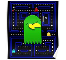 Retro Pac Man Gaming Monster Poster