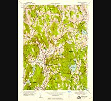 USGS TOPO Map Connecticut CT Woodbury 461084 1955 24000 Unisex T-Shirt