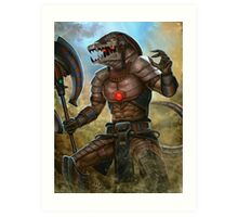 Death Dealer Sobek (humanized) - Smite Art Print