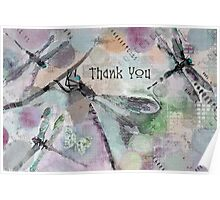 Dragonflies - Thank You Poster