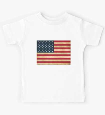 Vintage Grunge USA Flag Kids Tee