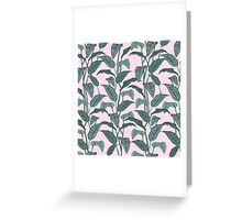 Pink Leaf Greeting Card