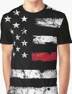 Red Line (White) V2 Graphic T-Shirt