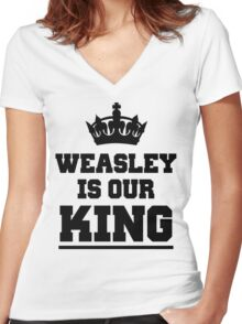 Weasley is our king 2 Women's Fitted V-Neck T-Shirt