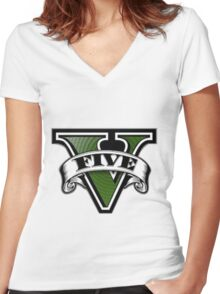 Grand Theft Auto V Women's Fitted V-Neck T-Shirt