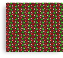 Green and Red Apple Pattern Canvas Print