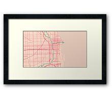 Chicago Map (Spring)  Framed Print