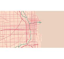 Chicago Map (Spring)  Photographic Print