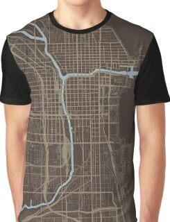 Chicago Map (Autumn) Graphic T-Shirt