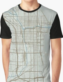 Chicago Map (Winter) Graphic T-Shirt