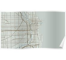 Chicago Map (Winter) Poster