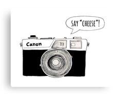 Say Cheese Canvas Print
