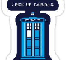 8-Bit Tardis - Doctor Who Shirt Sticker