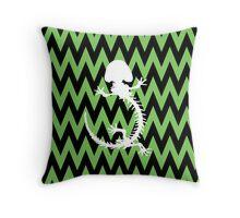 Amphibian Skeleton Throw Pillow