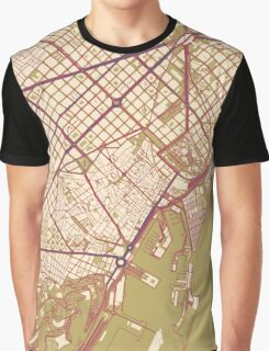 Barcelona Map (Autumn) Graphic T-Shirt